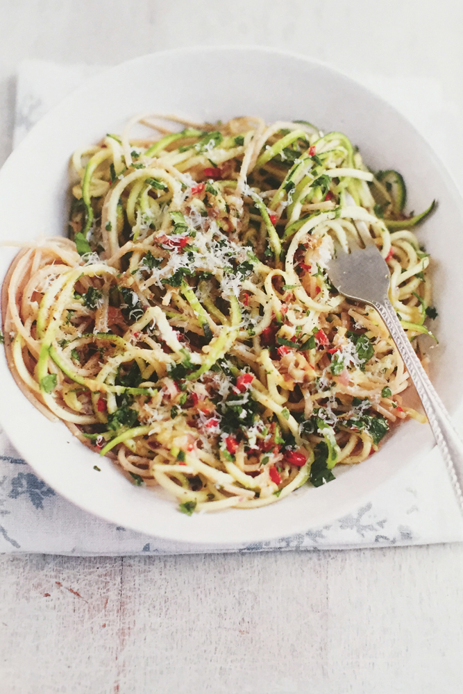 EAT BEAUTIFUL_SUMMER_Courgette & Brown Rice Spaghetti_Image Credit David Loftus